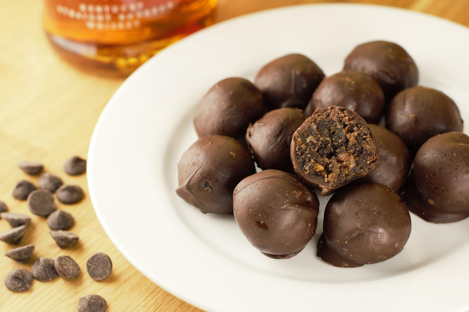 Bourbon Pecan Truffles - Mountain Cravings