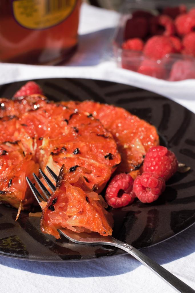 Grilled Honey-Ginger Grapefruit