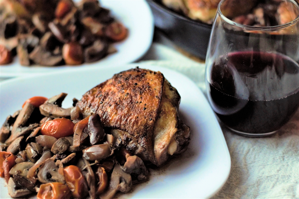 Skillet Chicken with Mushrooms & Olives | Mountain Cravings