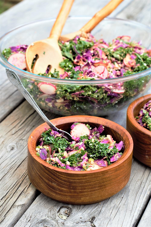 Kale Slaw Salad | Mountain Cravings
