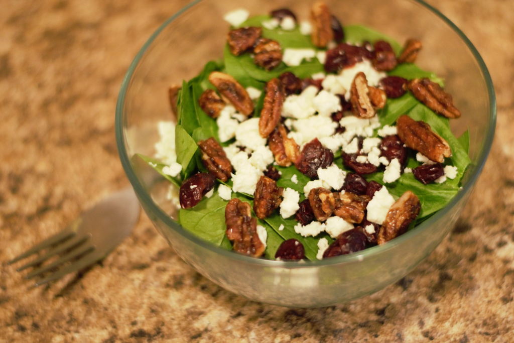 how to make healthy candied pecans for salad