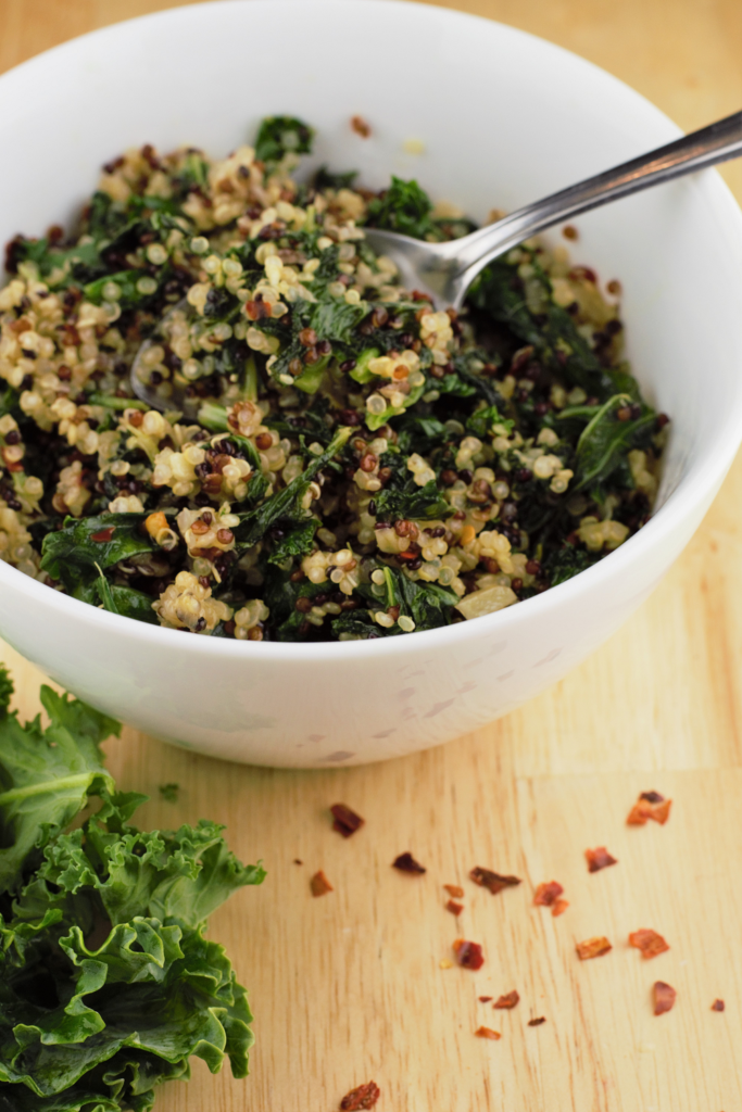 Garlic Ginger Kale Quinoa