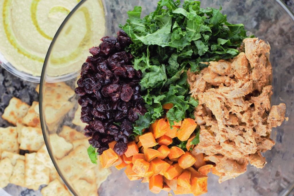 Sweet Potato Chicken with Cranberries & Kale