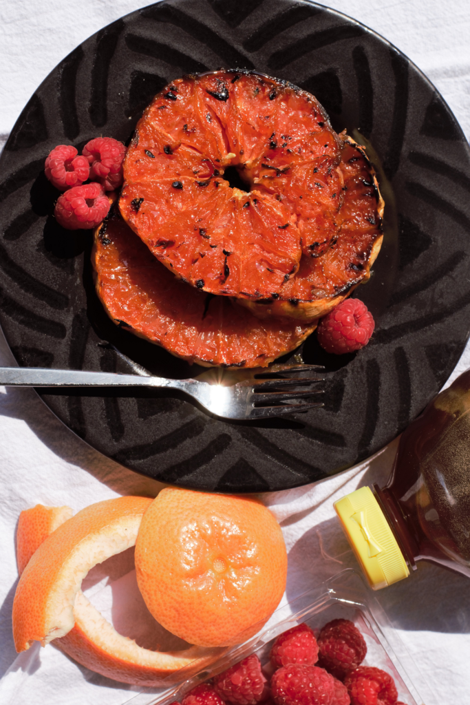 Grilled Honey-Ginger Grapefruit