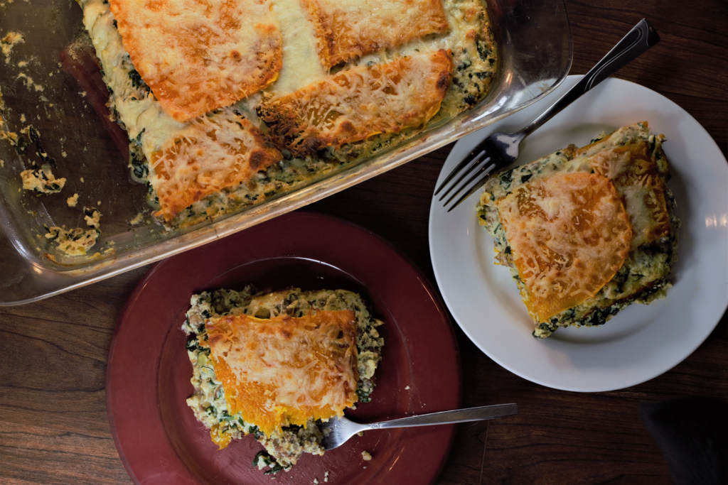 Butternut Sausage Spinach Lasagna | Mountain Cravings