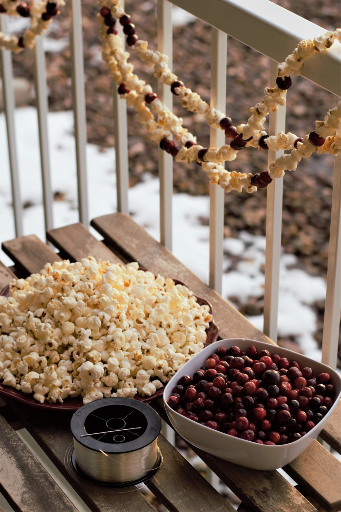 DIY Cranberry Popcorn Garland | Mountain Cravings